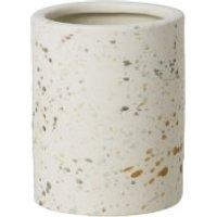 Broste Copenhagen Terraz Small Ceramic Vase - Ivory - Ivory Gifts
