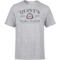 Jaws Quint's Shark Charter T-Shirt - Grey - XXL - Grey - Shark Gifts