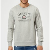 Jaws Quint's Shark Charter Sweatshirt - Grey - XXL - Grey - Shark Gifts