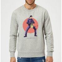 The Big Lebowski The Jesus Sweatshirt - Grey - XXL - Grey - Jesus Gifts