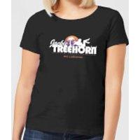 The Big Lebowski Treehorn Logo Women's T-Shirt - Black - M - Black