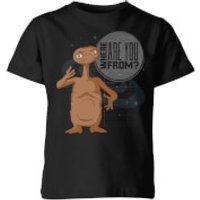 ET Where Are You From Kids' T-Shirt - Black - 11-12 Years - Black