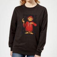 ET Phone Home Stylised Women's Sweatshirt - Black - XXL - Black