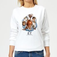 ET Painted Portrait Women's Sweatshirt - White - XXL - White