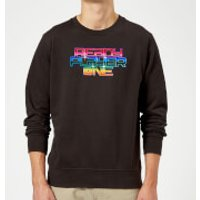 Ready Player One Rainbow Logo Sweatshirt - Black - M - Black - Rainbow Gifts