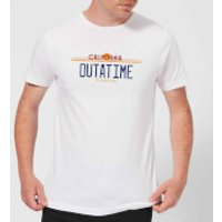 Back To The Future Outatime Plate T-Shirt - White - S - White
