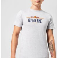 Back To The Future Outatime Plate T-Shirt - Grey - XL - Grey