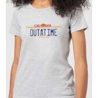 Back To The Future Outatime Plate Women's T-Shirt - Grey - XXL - Grey