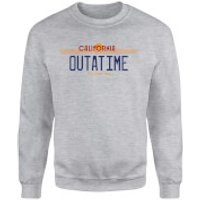 Back To The Future Outatime Plate Sweatshirt - Grey - L - Grey