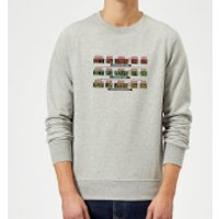 Back To The Future Destination Clock Sweatshirt - Grey - XXL - Grey - Clock Gifts
