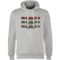 Back To The Future Destination Clock Hoodie - Grey - M - Grey - Clock Gifts
