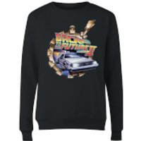Back To The Future Clockwork Womens Sweatshirt - Black - M - Black