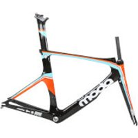 Moda Interval Carbom Tri/Time Trial Frameset - Orange/Black/White - 54cm - Orange/Black/White