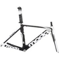 Moda Sharp Carbon Tri/Time Trial Frameset - Black/White - 51cm - Black/White