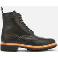 Grenson Grenson Men's Fred Leather Commando Sole Lace Up Boots - Black - UK 11 - Black