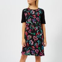 PS-Paul-Smith-Womens-Acapulco-Print-T-Dress-Black-S-Black