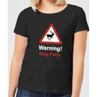 Warning Stag Party Women's T-Shirt - Black - 5XL - Black - Stag Night Gifts