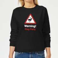 Warning Stag Party Women's Sweatshirt - Black - 5XL - Black - Stag Night Gifts