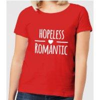 Hopeless Romantic Women's T-Shirt - Red - XXL - Red - Romantic Gifts