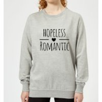 Hopeless Romantic Women's Sweatshirt - Grey - L - Grey