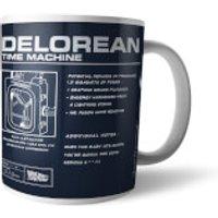 Back To The Future Delorean Schematic Mug