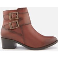 Barbour International Inglewood Leather Buckle Heeled Ankle Boots - Tan