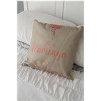 Black Ginger Flamingo Cushion - Cushion Gifts