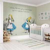 Alice in Wonderland Lifetime of Adventures Wall Mural