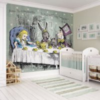 Alice in Wonderland Tea Party Wall Mural