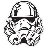 Star Wars Stormtrooper Helmet Maxi Wall Sticker