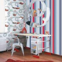 Disney Blue Long Island Stripe Wallpaper