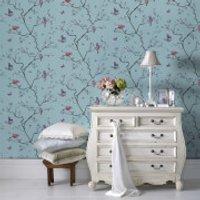 Fresco Blue/Multi Oriental Mai Floral Wallpaper