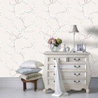 Fresco Beige/Natural Apple Blossom Floral Wallpaper - Apple Gifts