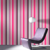 Fresco Hot Pink Rico Striped Wallpaper