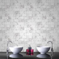 Contour Pale Grey Carrera Bathroom/Kitchen Wallpaper