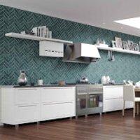 Contour Silver Lustro Bathroom/Kitchen Wallpaper
