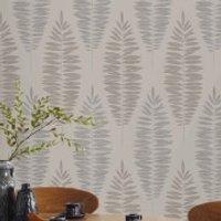 Boutique Beige Lucia Floral Wallpaper - Beige Gifts