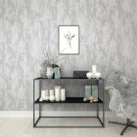 Boutique Silver Industrial Texture Wallpaper