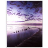 Art for the Home Metallic Serenity Shores Printed Canvas - Home Gifts