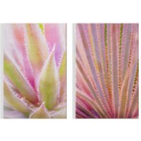Art for the Home Blushed Tropical Leaves Printed Canvas (Set of 2) - Home Gifts