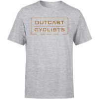 Outcast Cyclists Chest Logo T-Shirt - Grey - L - Grey
