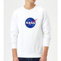NASA Logo Insignia Sweatshirt - White - XXL - White