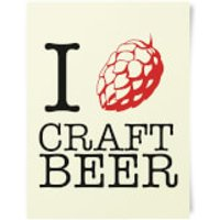 Beershield I Hop Craft Beer Art Print - Craft Gifts