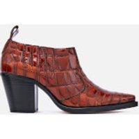 Ganni Women's Nola Heeled Ankle Boots - Cognac - EU 38/UK 5 - Brown