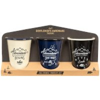 Gentlemens Hardware Enamel Tumblers (Set of 3)