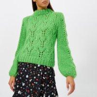 Ganni Women's The Julliard Mohair Jumper - Green - XS - Green