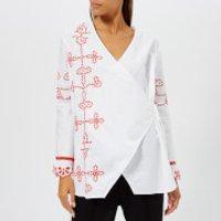 Ganni-Womens-Peony-Shirt-Bright-White-DK-34UK-6-White