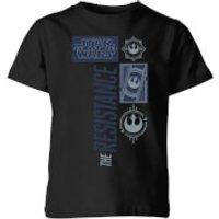 Star Wars The Resistance Black Kids' T-Shirt - Black - 9-10 Years - Black