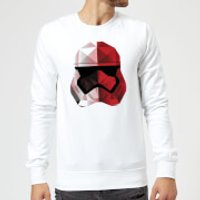Star Wars Cubist Trooper Helmet White Sweatshirt - White - XXL - White