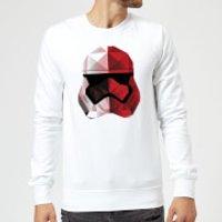 Star Wars Cubist Trooper Helmet White Sweatshirt - White - XXL - White
